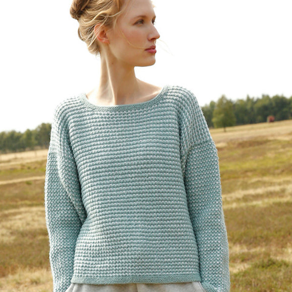 Weave-Stitch Jumper in ggh Wollywasch - Rebecca Knit Kit