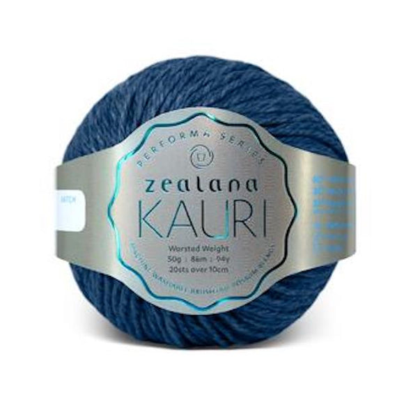 Zealana Kauri Worsted 015 Blue Awa - Merino, possum and silk, 10ply, 50g - I Wool Knit