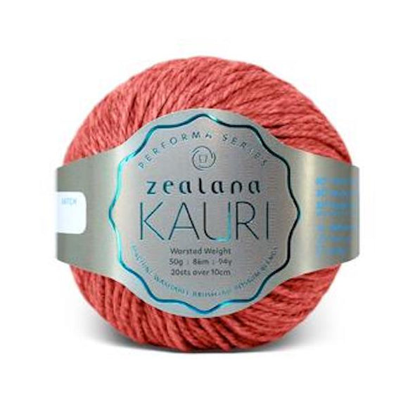 Zealana Kauri Worsted 009 Rata Red - Merino, possum and silk, 10ply, 50g - I Wool Knit