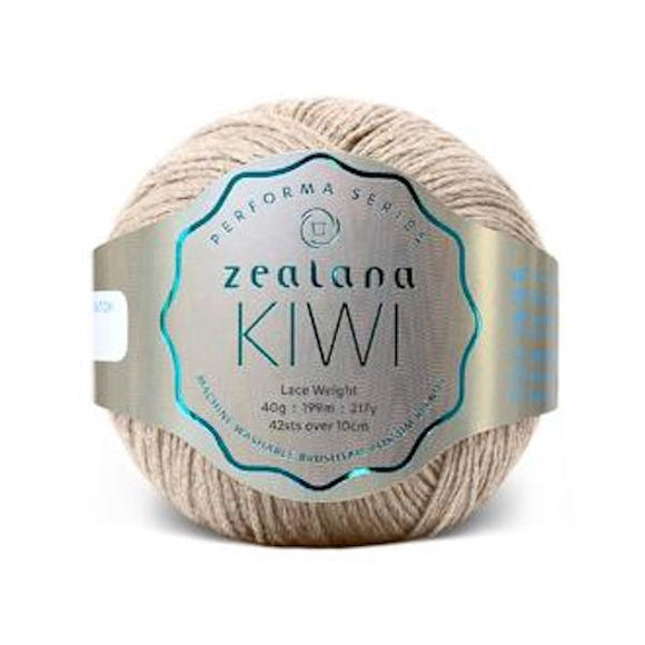 Zealana Kiwi Lace 01, Beach, Merino-organic cotton-possum, 2ply, 40g - I Wool Knit