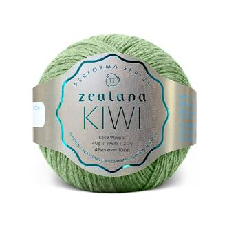 Zealana Kiwi Lace 07, Fern, Merino-organic cotton-possum, 2ply, 40g - I Wool Knit