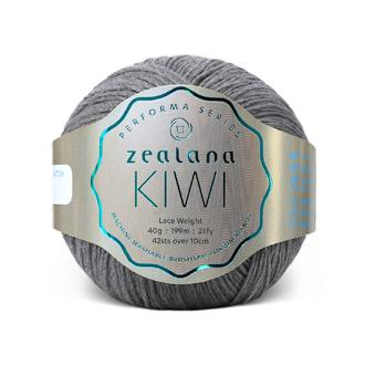 Zealana Kiwi Lace 10, Granite, Merino-organic cotton-possum, 2ply, 40g - I Wool Knit
