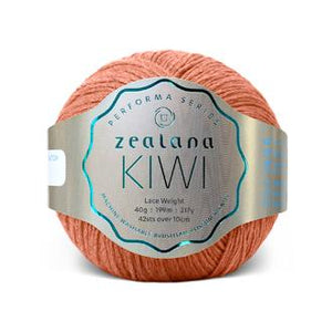 Zealana Kiwi Lace 11, Sun Orange, Merino-organic cotton-possum, 2ply, 40g - I Wool Knit