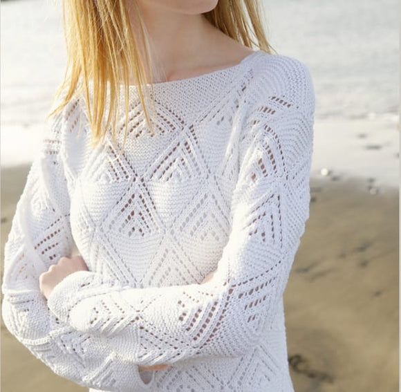 Lace jumper in organic cotton - Rebecca Knit Kit - I Wool Knit