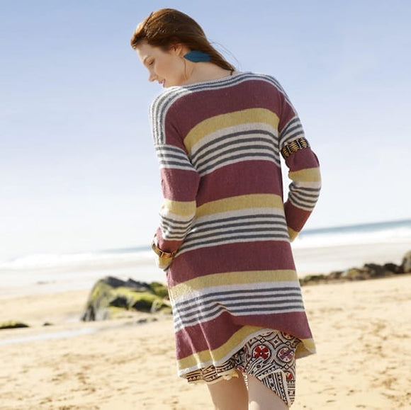 Rebecca knitting pattern Long cardigan - I Wool Knit