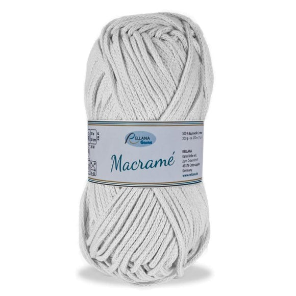 Rellana Macramé 001 white, bulky cotton cord, 200g - I Wool Knit