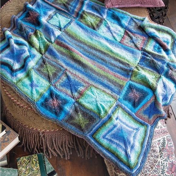 Perfectly Square Throw Blanket in Taiyo - Noro Knit Kit - I Wool Knit