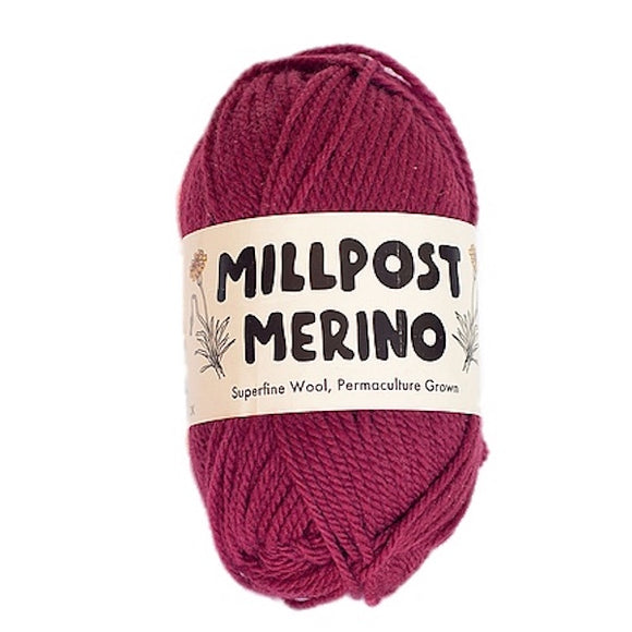 Millpost Merino 012, Millpost red, 4ply, 50g - I Wool Knit