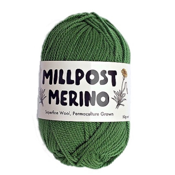 Millpost Merino, bottle green, DK, 50g - I Wool Knit