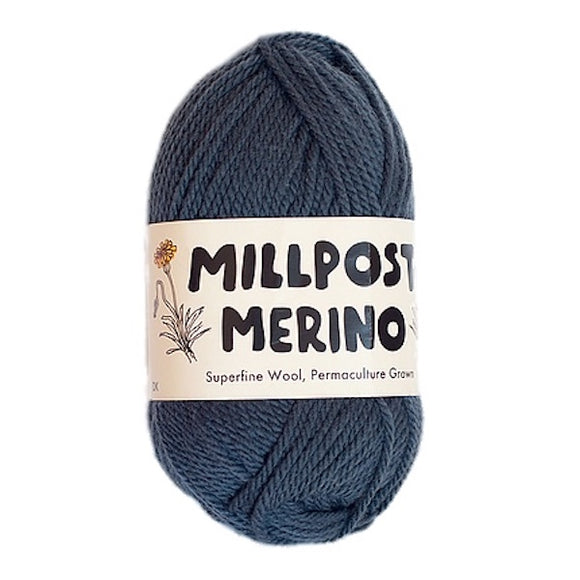 Millpost Merino 016, dark grey, 4ply, 50g - I Wool Knit
