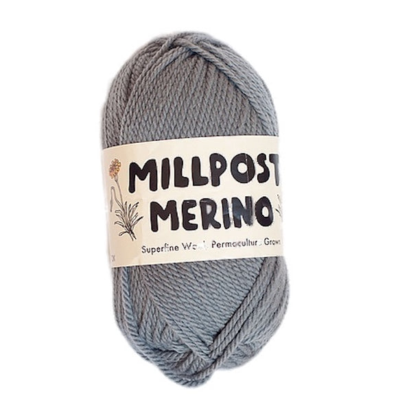 Millpost Merino 006,  light grey, DK, 50g - I Wool Knit
