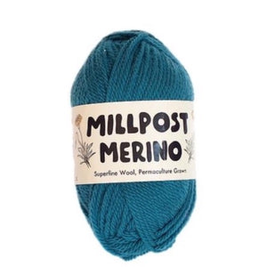 Millpost Merino 014, sea blue-green, 4ply, 50g - I Wool Knit
