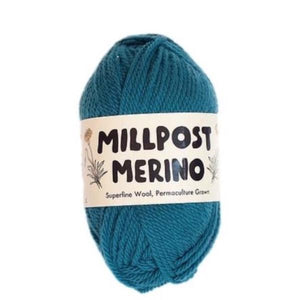 Millpost Merino 014, sea blue-green, DK, 50g - I Wool Knit