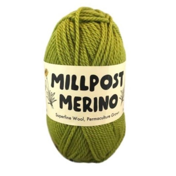 Millpost Merino 010, green, 4ply, 50g - I Wool Knit