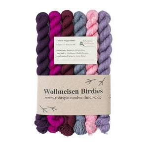 Wollmeise Birdy, Set of Mini-Skeins, I Wool Knit