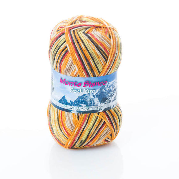 Rial Filati Monte Bianco 504, 4ply, sock yarn, 100g - I Wool Knit