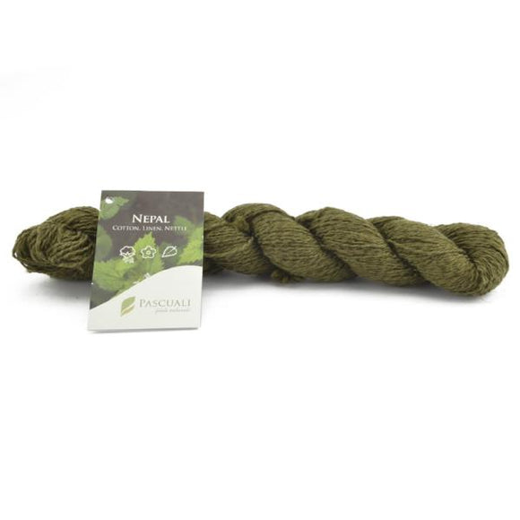 Pascuali Nepal 009 kiwi. Cotton, linen and nettle, 50g - I Wool Knit