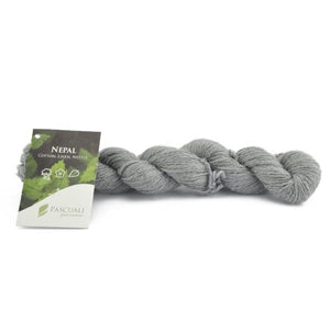 Pascuali Nepal 011 stone grey. Cotton, linen and nettle, 50g