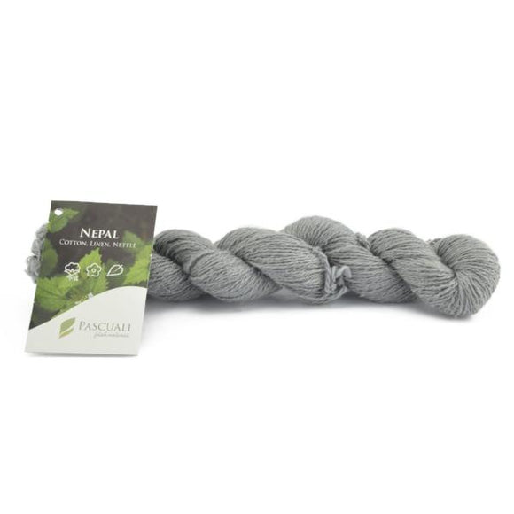 Pascuali Nepal 011 stone grey. Cotton, linen and nettle, 50g - I Wool Knit