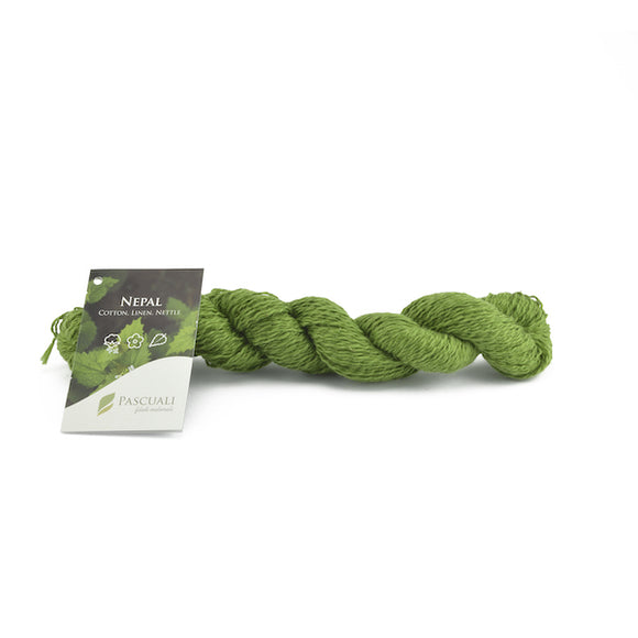 Pascuali Nepal 007 grass green, cotton, linen and nettle, 50g - I Wool Knit