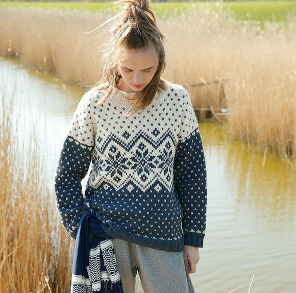 Jacquard Jumper in ggh Norvika - Rebecca Knit Kit - I Wool Knit