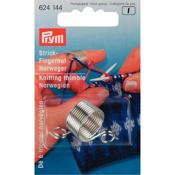 Prym Norwegian Knitting Thimble - I Wool Knit