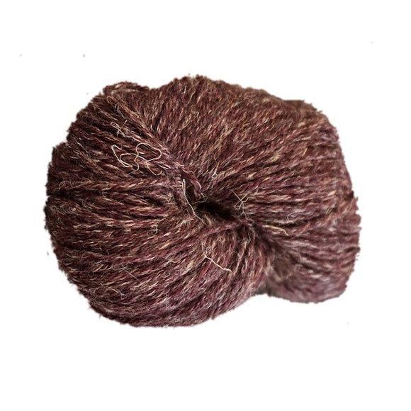 Stolen Stitches Nua Sport 9815 Chalk and Plum - I Wool Knit