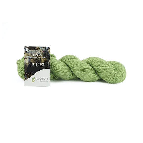 Pascuali Pinta 017 meadow green, Merino & Mulberry silk sock yarn, 4ply, 100g