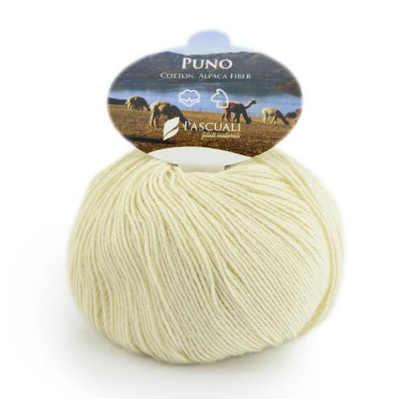 Pascuali Puno 020 birch, organic cotton & Alpaca, 4ply, 50g - I Wool Knit