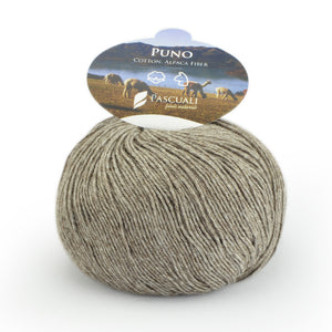 Pascuali Puno, Certified organic cotton and Alpaca yarn, 4ply - I Wool Knit