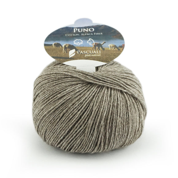 Pascuali Puno 030 oak, organic cotton & Alpaca, 4ply, 50g - I Wool Knit