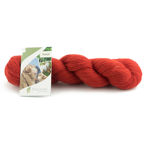 Pascuali Forest 108 coral red, 4ply, 100g - I Wool Knit