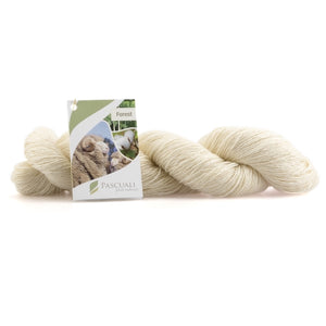 Pascuali Forest 101 wool white for hand dyeing, 4ply, 100g - I Wool Knit