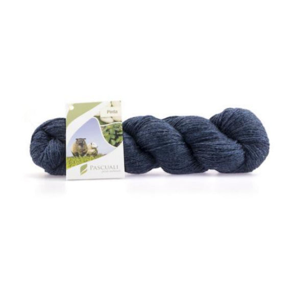 Pascuali Pinta 001 navy, Merino & Mulberry silk sock yarn, 4ply, 100g - I Wool Knit