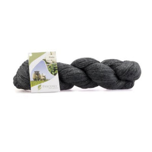 Pascuali Pinta 006 anthracite, Merino & Mulberry silk sock yarn, 4ply, 100g - I Wool Knit
