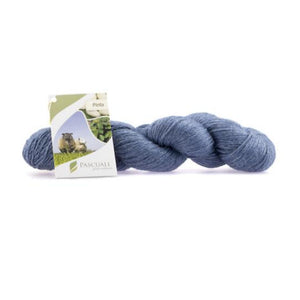 Pascuali Pinta 007 denim blue, Merino & Mulberry silk sock yarn, 4ply, 100g - I Wool Knit