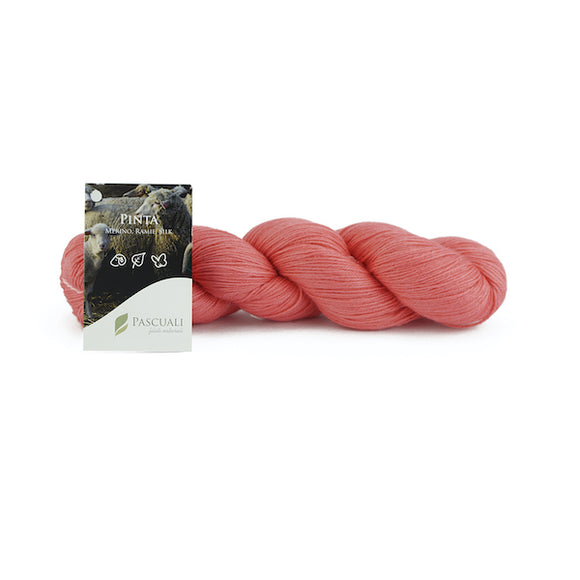 Pascuali Pinta 016 old pink, Merino & Mulberry silk sock yarn, 4ply, 100g - I Wool Knit