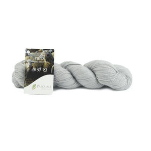 Pascuali Pinta 018 silver grey, Merino & Mulberry silk sock yarn, 4ply, 100g - I Wool Knit