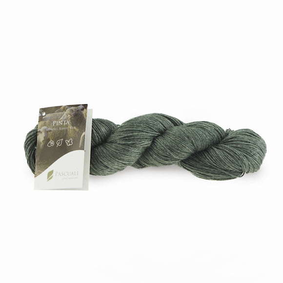Pascuali Pinta 022 dark green, Merino & Mulberry silk sock yarn, 4ply, 100g