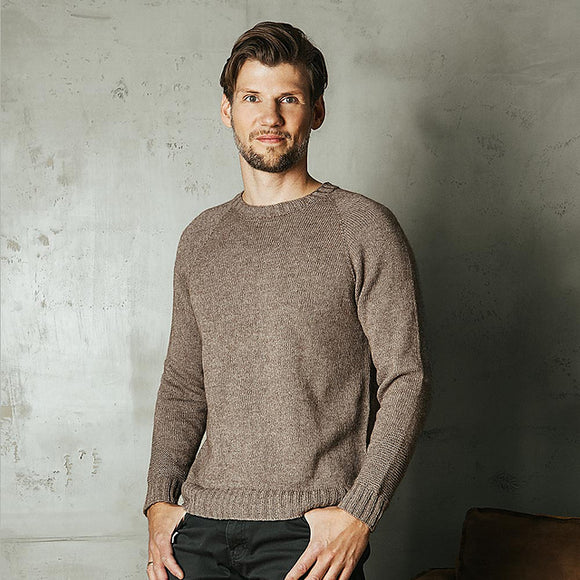 Top Down Men's Raglan Jumper - Pascuali Puno Yarn Pack - I Wool Knit