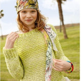 Rebecca Raglan Pullover in Garter Stitch - Knit Kit - I Wool Knit - 1