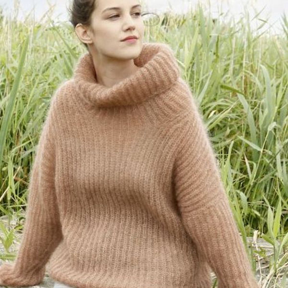 Fisherman's Rib Jumper in ggh Kid - Rebecca Knit Kit - I Wool Knit