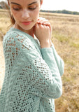 Extra-wide cable and lace jumper in ggh Baby Alpaca - Rebeccca Knit Kit - I Wool Knit