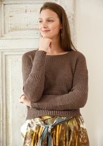 Jumper with Brioche patterns in ggh Lacy - Rebecca Knit Kit - I Wool Knit