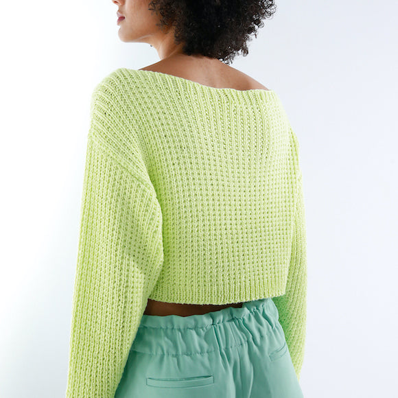 Short jumper in ggh Bambu - Rebecca Knit Kit - I Wool Knit