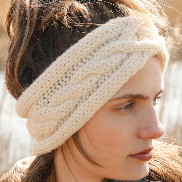 Cabled Headband in ggh Norvika - Rebecca Knit Kit - I Wool Knit