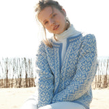 Norwegian Fair-Isle Cardigan in ggh Wollywasch - Rebecca Knit Kit - I Wool Knit