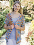 Open Jacket in Xenia cotton ribbon yarn - Pattern OR Knit Kit