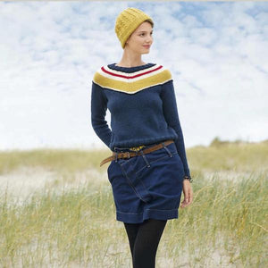 Sweater with V-Yoke, Rebecca Knit Kit, I Wool Knit