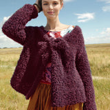 Plushy cardigan in ggh Lavella - Rebecca Knit Kit. I Wool Knit